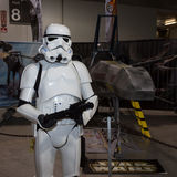 Stormtrooper at Cartoomics 2014 in Milan, Italy Stock Image