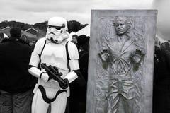 Stormtrooper en Han Solo royalty-vrije stock fotografie
