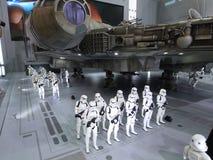 Stormtrooper postać w Com Hong Kong 2015 & grach Obrazy Royalty Free