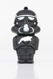 Stormtrooper rubber mini figure from the Star Wars. Stock Photography