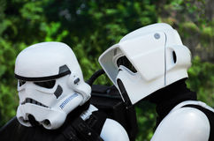 Stormtrooper and scout trooper. Royalty Free Stock Photo
