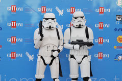 Stormtroopers al Giffoni Film Festival 2015 Royalty Free Stock Photos
