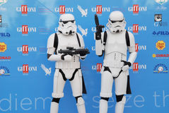 Stormtroopers al Giffoni Film Festival 2015 Royalty Free Stock Photo