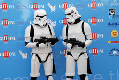 Stormtroopers al Giffoni Film Festival 2015 Stock Image