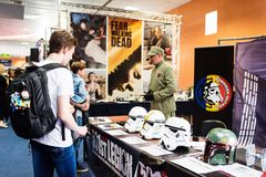 Stormtroopers helmets o display at EECC 2017 Royalty Free Stock Images