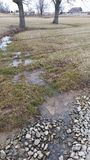 Stormwater Runoff: Creek in the Country Stock Photo