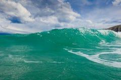 Stormy adriatic sea. In Baska, Croatia Stock Photo