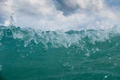 Stormy adriatic sea. In Baska, Croatia Stock Image