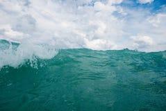 Stormy adriatic sea. In Baska, Croatia Royalty Free Stock Image