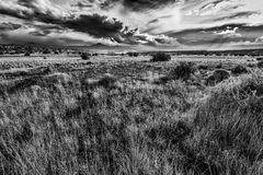 Stormy Afternoon in Abiquiu, NM Stock Photo
