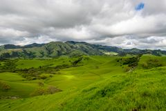 Stormy afternoon over Mount Diablo. A cloudy afternoon along the Diablo Foothills and the China Wall royalty free stock photos