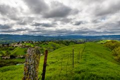 Stormy afternoon over Mount Diablo. A cloudy afternoon along the Diablo Foothills and the China Wall royalty free stock photography