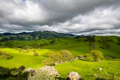 Stormy afternoon over Mount Diablo. A cloudy afternoon along the Diablo Foothills and the China Wall stock photos
