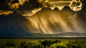 Stormy Afternoon in the Tetons Stock Image