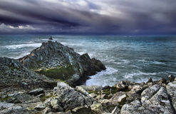 Stormy Atlantic. Wild stormy coasline before storm, high density range image Stock Images