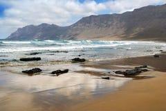 Stormy Atlantic shore Stock Image