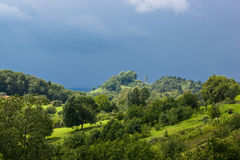 Stormy atmosphere in the Swabian Alps Royalty Free Stock Photography