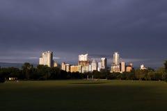A stormy Austin Texas skyline, June 2015 Royalty Free Stock Photo