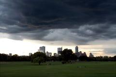 A stormy Austin Texas skyline, May 2015 Stock Photo