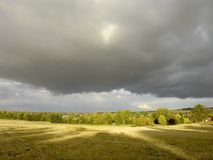Stormy autumnal landscape before rain Royalty Free Stock Image
