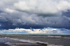 Stormy Baltic sea. Stock Photos