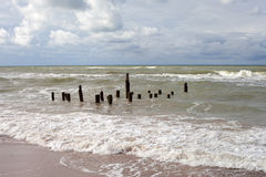 Stormy Baltic sea. Royalty Free Stock Photography