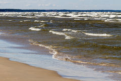 Stormy Baltic sea. Royalty Free Stock Images