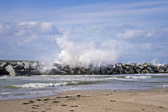 Stormy Baltic Sea Stock Images