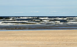 Stormy Baltic sea. Large waves of stormy Baltic sea Royalty Free Stock Photo