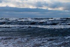 Stormy Baltic sea. Royalty Free Stock Photo