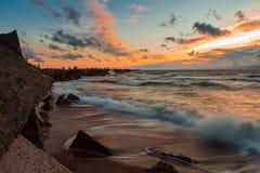 Stormy Baltic sunset Stock Photos