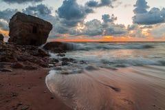 Stormy Baltic sunset Stock Photo
