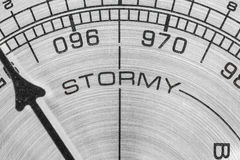 Stormy Barometer Macro Royalty Free Stock Photos