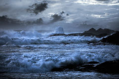 Stormy beach Royalty Free Stock Photography