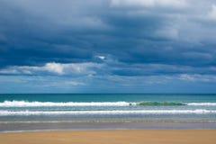 Stormy Beach. Beach on a stormy day stock photos