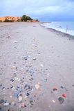 Stormy beach in Crete, Greece Stock Photography