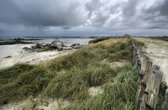 Stormy beach, Guisseny, France, Hdr Royalty Free Stock Image