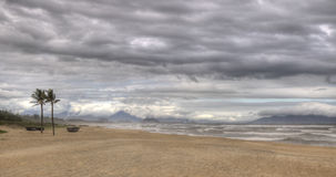 Stormy beach in HDR Royalty Free Stock Photos