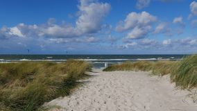 Stormy beach. In northern Germany stock photos