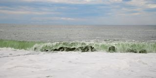 Stormy Black sea landscape and huge waves. The Stormy Black sea landscape and huge waves Stock Photography