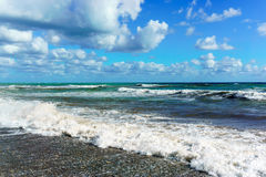 Stormy Black Sea in Sochi, Krasnodar region Royalty Free Stock Images