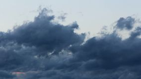 Stormy blue cloud time lapse.  stock video footage