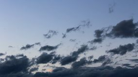 Stormy blue hour cloud time lapse.  stock footage