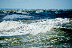 Stormy blue sea Royalty Free Stock Image