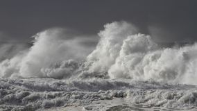Stormy breaking waves stock photo