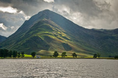 Stormy Buttermere. A Landscape of Buttermere in the Lake District on a stormy day royalty free stock photography