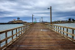 Stormy California Pier stock image