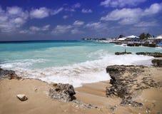 Stormy Caribbean sea Grand Cayman. Stormy sea / ocean, George Town, Grand Cayman, Cayman Islands stock photo