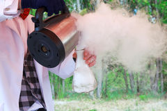 Stormy chemical reaction during the experiment. Show Stock Photo