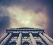 Stormy City Hall Royalty Free Stock Photography